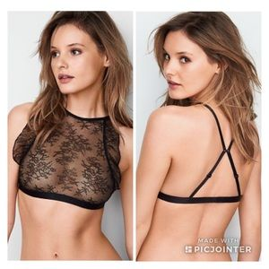Victoria's Secret Chantilly Lace Sheer Hi Neck Bra